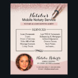 """Mobile Notary Service Rose Gold Glitter Photo Flyer<br><div class=""""desc"""">Mobile Notary Service Rose Gold Glitter Photo Flyers.</div>"""
