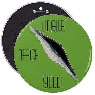 Mobile Office Sweet-Big Green Woman s League-XR71 Pinback Button