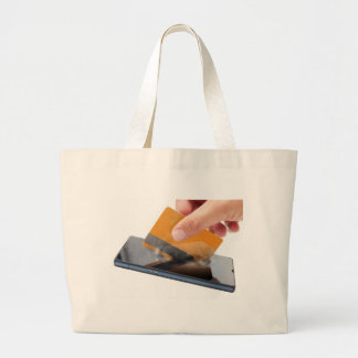 Mobile payment large tote bag