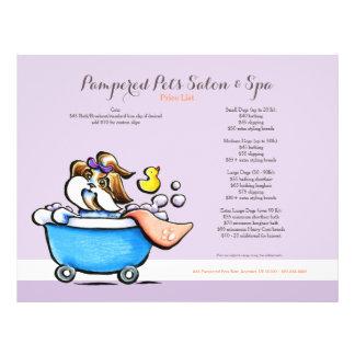 Mobile Pet Groomer Shih Tzu Purple Price Sheet