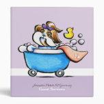 Mobile Pet Grooming Guest Guide Shih Tzu Purple Vinyl Binder
