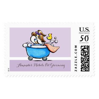 Mobile Pet Grooming Shih Tzu Purple Groomer Postage