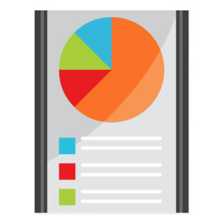 Mobile Phone App Financial Report Postcard