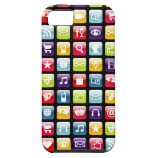 Mobile Phone App Icons Pattern iPhone SE/5/5s Case