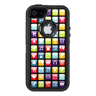 Mobile Phone App Icons Pattern OtterBox iPhone 5/5s/SE Case