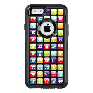 Mobile Phone App Icons Pattern OtterBox iPhone 6/6s Case