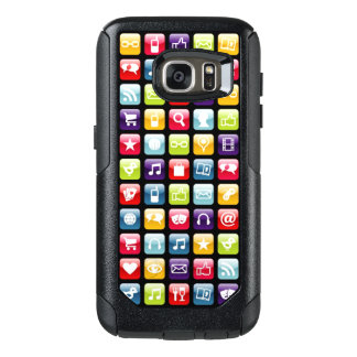 Mobile Phone App Icons Pattern OtterBox Samsung Galaxy S7 Case