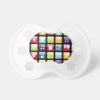 Mobile Phone App Icons Pattern Pacifier