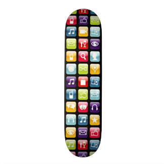Mobile Phone App Icons Pattern Skateboard