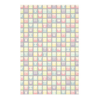 Mobile Phone App Icons Pattern Stationery