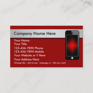 Cell phone business cards zazzle mobile phone business cards colourmoves