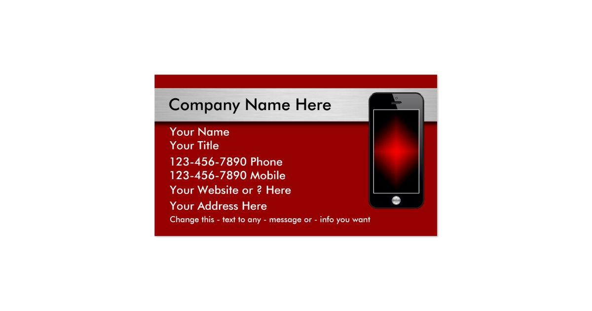mobile phone business cards zazzle. Black Bedroom Furniture Sets. Home Design Ideas