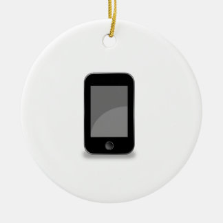 Mobile phone ceramic ornament