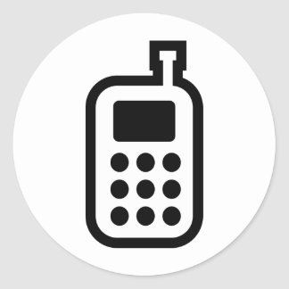 Mobile Phone Classic Round Sticker