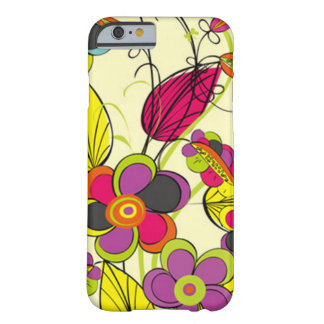 Mobile phone covering with multicolored flowers barely there iPhone 6 case