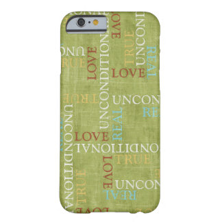 Mobile phone covering - Wordart Love Barely There iPhone 6 Case