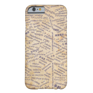 Mobile phone in the Different Languages Barely There iPhone 6 Case