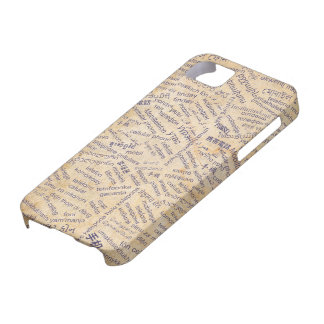 Mobile phone in the Different Languages iPhone SE/5/5s Case