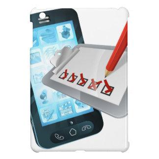 Mobile Phone Online Survey Clipboard iPad Mini Cover