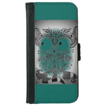 Mobile phone purse ZenZia owl Iphone iPhone 6/6s Wallet Case