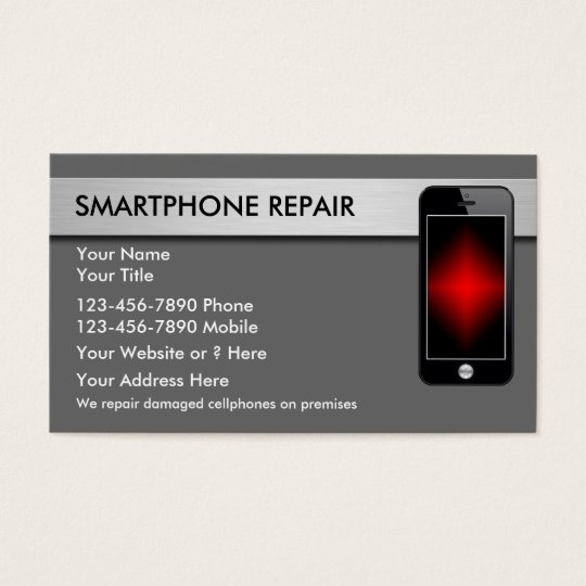 Mobile phone repair business cards zazzle for Phone repair business card