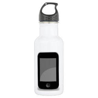 Mobile phone stainless steel water bottle