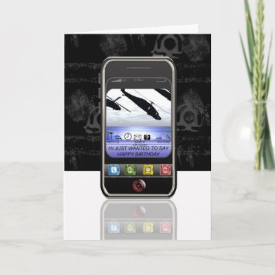 Mobile Phone Text Message Happy Birthday Cellphone Card Zazzle