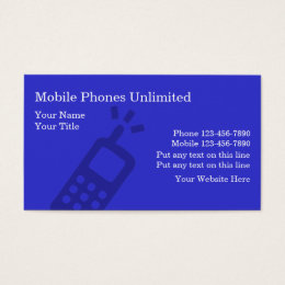 Phone accessories business cards templates zazzle mobile phones business cards colourmoves