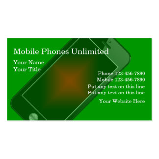 Mobile Phones Business Cards