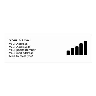 Mobile reception business cards