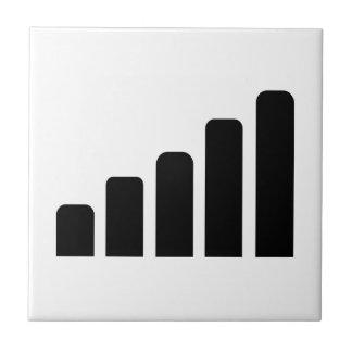 Mobile reception ceramic tile