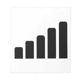 Mobile reception memo notepad