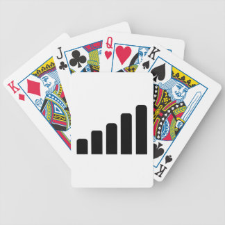 Mobile reception bicycle playing cards