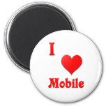 Mobile -- Red Fridge Magnet
