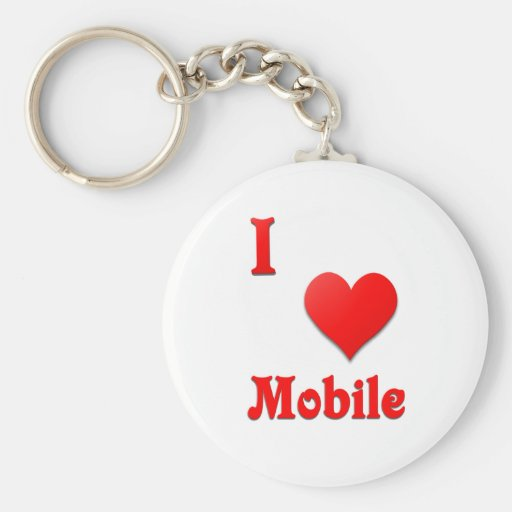 Mobile -- Red Keychains