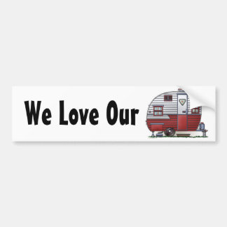 Mobile Scout Camper Bumper Sticker