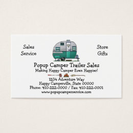 Vintage throw business cards templates zazzle mobile scout camper business card colourmoves