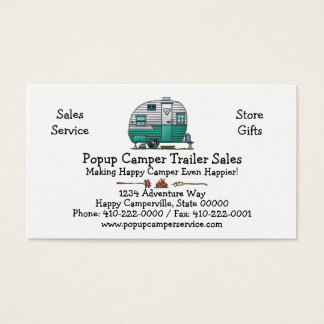 Mobile Scout Camper Business Card