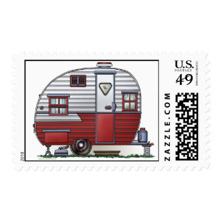 Mobile Scout Camper Postage