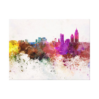 Mobile skyline in watercolor background canvas print