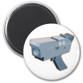 mobile speed camera radar gun retro 2 inch round magnet