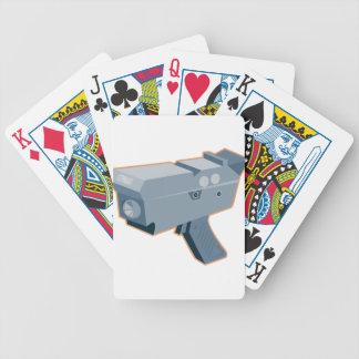 mobile speed camera radar gun retro bicycle playing cards