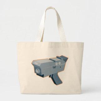 mobile speed camera radar gun retro large tote bag