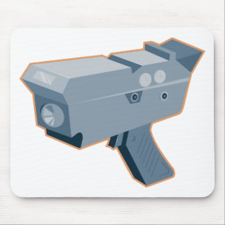 mobile speed camera radar gun retro mouse pad