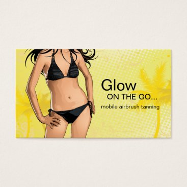 Professional Business Mobile Spray Tanning Business Card