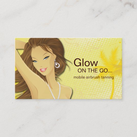 Mobile spray tanning business card zazzle mobile spray tanning business card colourmoves