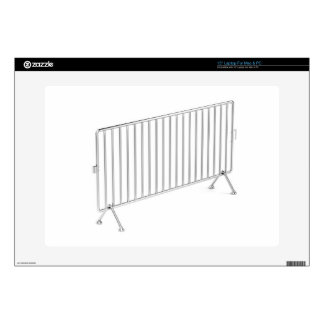 "Mobile steel fence decal for 15"" laptop"
