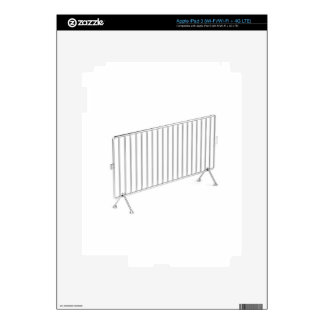 Mobile steel fence decal for iPad 3