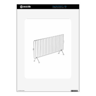 Mobile steel fence skin for the iPad