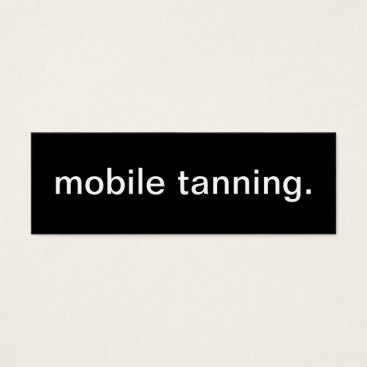 Professional Business Mobile Tanning Business Card